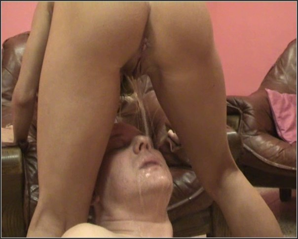 Oriental girl peeing in mans mouth