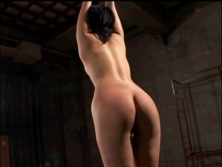 Rigidly tied girl spanking