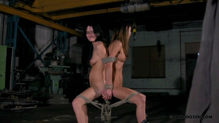 Tied together two beauties - Bondage Videos